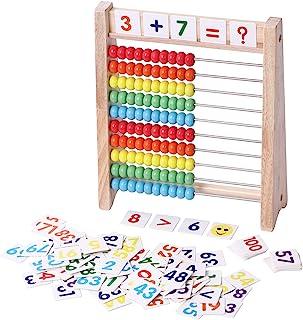 「100玉そろばん+数字カード」セット 百玉そろばん 子供 そろばん 数字 100 算数 おもちゃ 知育・学習玩具 男の子 女の子 3+歳 子ども 知育玩具 小学生 足し算 引き算 掛け算 割り算 教材 幼稚園 教具 知育 おもちゃ