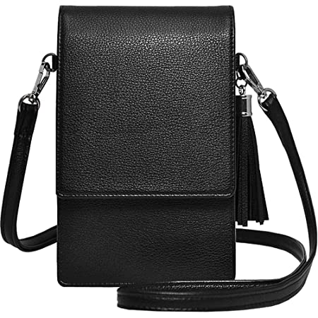 Real Leather Shoulder Mini Small Neck Purse Cross Body Travel Bag 7 Colours