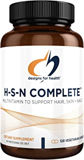 Designs for Health H-S-N Complete Capsules - Hair, Skin + Nails Supplement, Multivitamin with 1000mcg Biotin, Vitamin D, M...