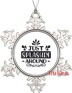 Just Splashin Around Black Funny Sayings Christmas Ornaments Pewter Keepsake Ornaments Xmas Gifts for Kids Girls Women New...