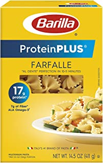 Barilla Protein Plus Farfalle Pasta, 14.5 Ounce (Packaging may vary)