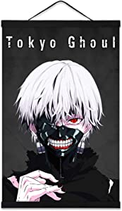Tokyo Ghoul Posters Anime Room Art Prints Wall Living Room Decor with 16in Wooden Magnet Hanger