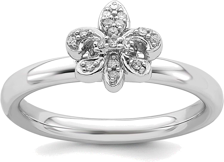 Bonyak Alternative dealer Jewelry Solid Sterling Fleur Financial sales sale Silver Expressions Stackable