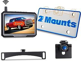 "$99 » Wireless Backup Camera for Truck Car Pickup Wireless Digital Signal 1080p Night Vision w/ 5"" Monitor Vehicle Backup Camera..."