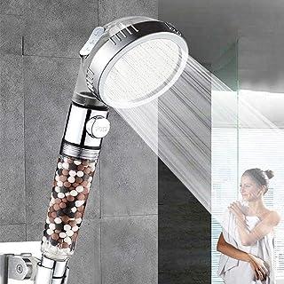 Ionische douchekop, instelbare douchekop met 3 functiemodi, douchekop handfilter voor waterontharding, één knop waterstop,...