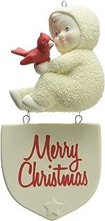 """Department 56 Snowbabies """"Merry Christmas"""" Porcelain Ornament, 5.12"""""""