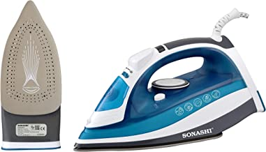 SONASHI STEAM IRON WITH CERAMIC SOLEPLATE -2400W SI-5075C, Multi Color