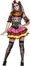FIESTAS GUIRCA Disfraz Mujer Catrina Sexy Colorida Lady Muerte Mexicana Talla s