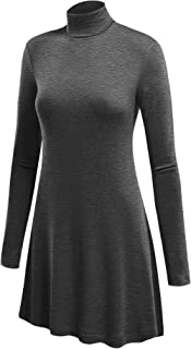 Women's Long Sleeve Turtleneck Asymmetric Tuni Top - Made in USA