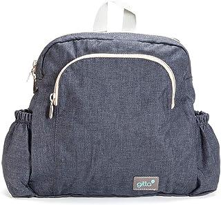 Gitta Mini Ideal Kids School Bag Child Preschool Backpack, Dark Blue Denim