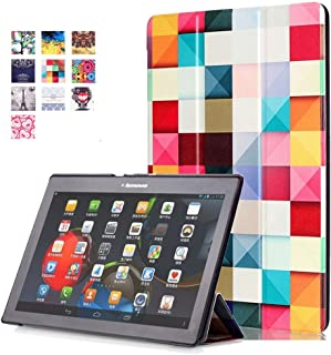 Lenovo Tab2 A10-30 Case,Lenovo Tab 3 10 inch Case,Premium PU Leather 360 Degree Rotating Stand Cover for Lenovo Tab 2 A10-30 / A10-70 / Tab3 10 Plus / Tab3 10 (Z-Colorful Cube)