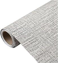 Wallpaper Gray Cloth Pattern Self-adhesive Wallpaper, PVC Waterproof Wallpaper, Modern Minimalist Background Wall Decorati...