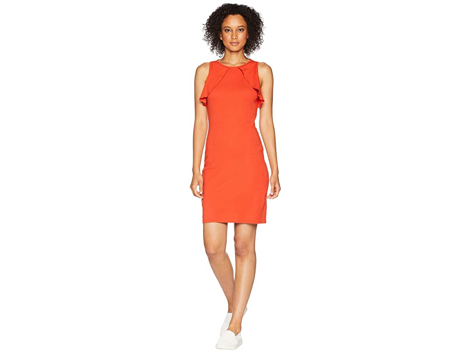 Three Dots Heritage Knit Dress (Red Clay) Women