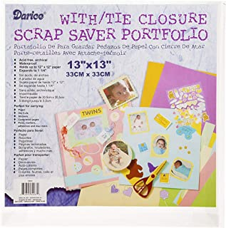 Darice Bulk Buy DIY Scrap Saver Portfolio Tie Close 12 x 12 inches (12-Pack) 1205-61