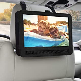Car Headrest Mount Holder Strap Case for Swivel & Flip Style Portable DVD Player (10-10.5 inch)