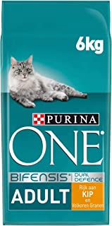 Purina ONE Adult Kattenvoer, Adult (vanaf 1 jaar) Kattenbrokken met Kip en Volkoren Granen, 6kg