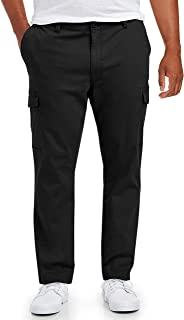 Amazon Essentials Big & Tall Cargo Pant fit by DXL, Black, 58W x 30L