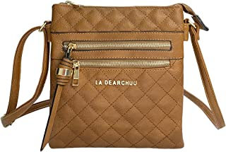 La Dearchuu Crossbody Bags for Women Faux Leather Small Crossbody Bag with Tassel Ladies Crossbody Shoulder Bag