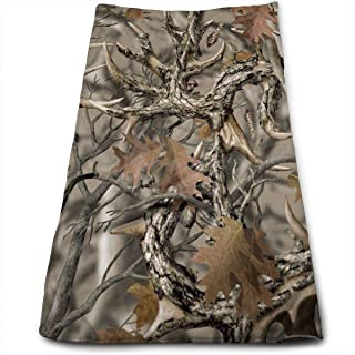 Yitlon8 Realtree Camo Bath Towels for Bathroom-Hotel-Spa-Kitchen-Set - Circlet Egyptian Cotton - Highly Absorbent Hotel Quality Towels