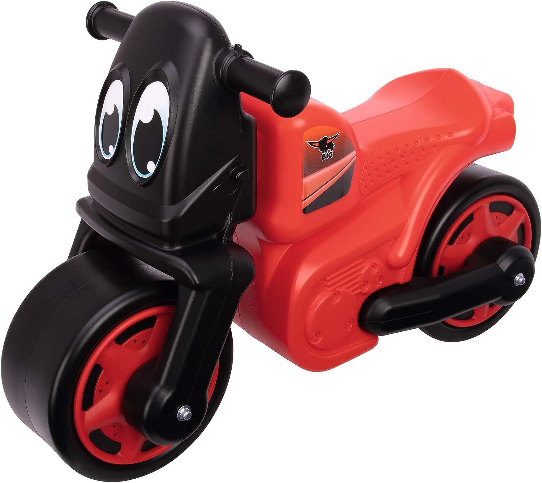 Big Racing Bike Red – Bicicleta Infantil con neumáticos Anchos, Resistente, Alta Seguridad antivuelco, Asiento Profundo, soporta hasta 25 kg, para niños a Partir de 1,5 años