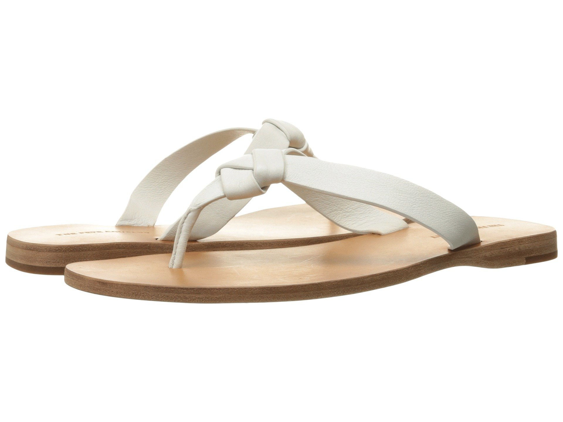 Perry Knot Thong, White Soft Full Grain