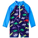 SwimZip Hang 10 UV Sun Protective Rash Guard Swimsuit Set Swimwear SZ312