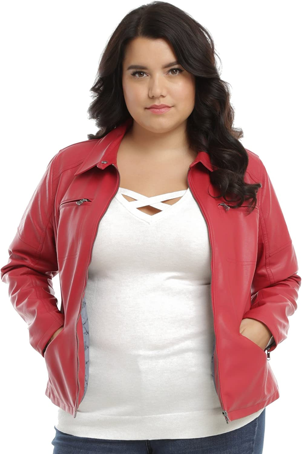 Disney Once Upon A Time Emma Red Biker Jacket Licensed HOT Topic Exclusive