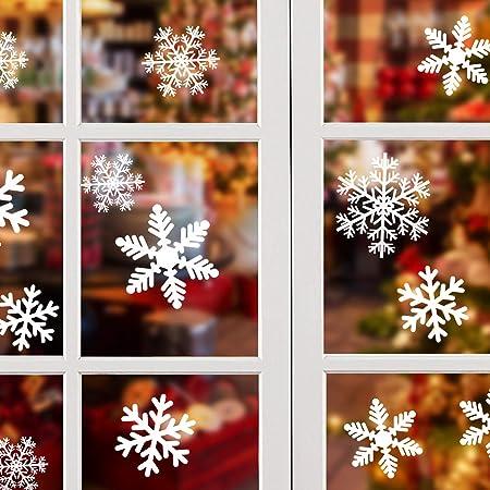 Fabulous Static PVC Stickers 56 Original Snowflake Window Clings by Articlings