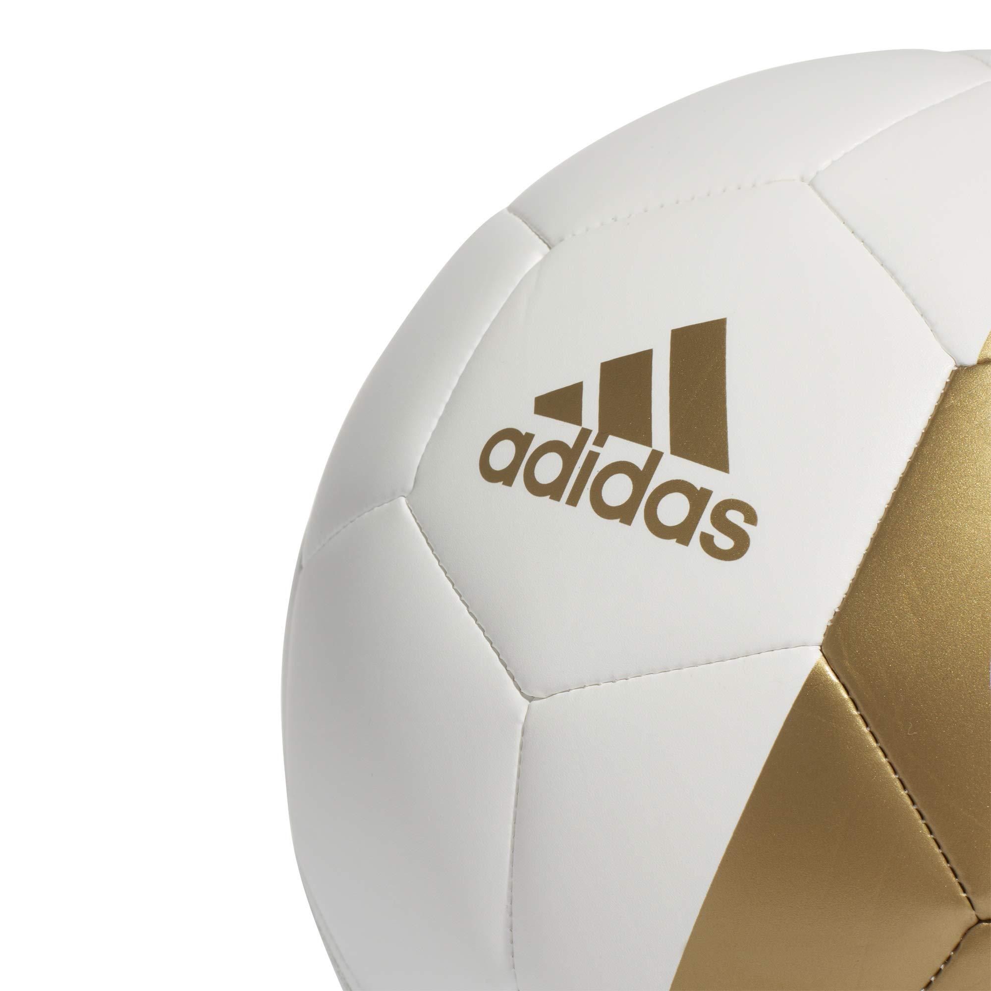adidas RM CPT Balón de Fútbol, Mens, White/Dark Football Gold, 5 ...