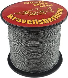 Bravefishermen Super Strong PE Braided Fishing Line 10LB-100LB Gray