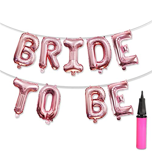 a0590f69cb82 KUMEED BRIDE TO BE Balloons Banner Rose Gold Balloons