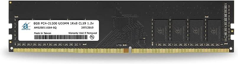 Adamanta 8GB (1x8GB) Desktop Memory Upgrade DDR4 2666Mhz PC4-21300 Unbuffered Non-ECC UDIMM 1Rx8 CL19 1.2v DRAM RAM