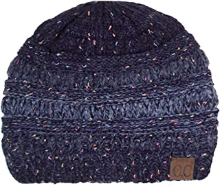 ScarvesMe Women's Trendy Four Tone Multi Color Ribbed Cable Knit Beanie
