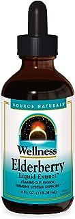 Source Naturals Wellness Elderberry Liquid Extract for Immune System Support - Sambucus nigra - 4 Fluid oz