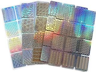 Muranba Many Different Designs 60 Pieces 5 Sheets Nail Sets Vinyl Stickers Stencils Cu