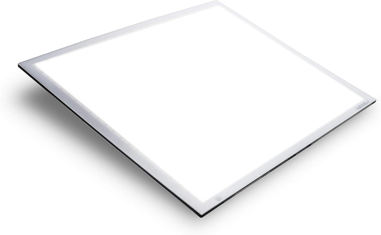 Walimex pro Shining Weiß 600 – sehr großer, hochwertiger LED Leuchttisch, Leuchtplatte, Zeichenbrett, 60x60 cm, dimmbar, 23 Watt, 5600K Tageslicht, 2.520 Lumen, CRI ≥ 90 Ra, Zeichnen Malen Abpausen B07JDRKSDV | Exquisite Handwerkskunst