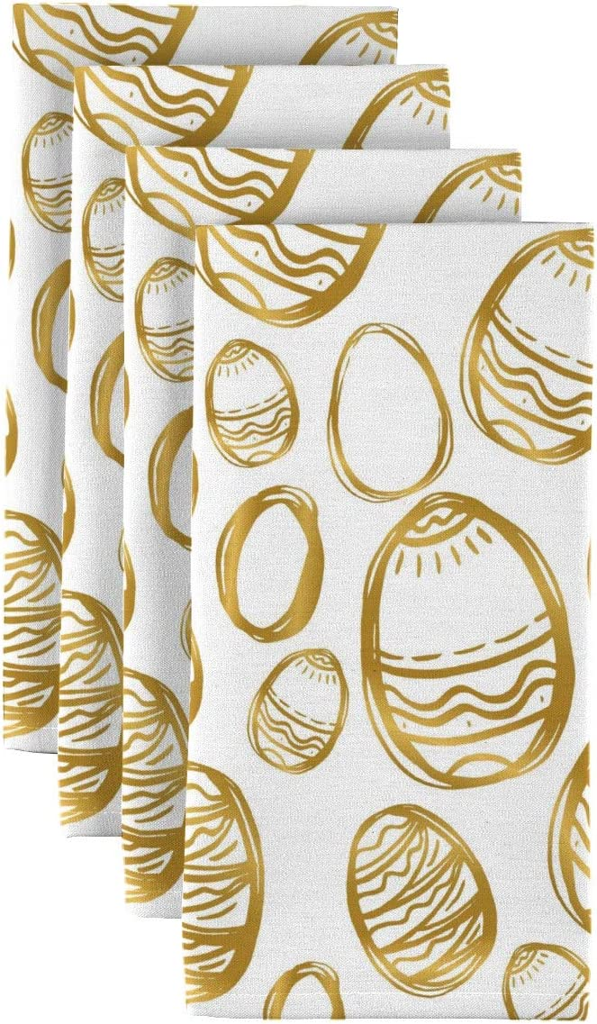 Max 54% OFF Fabric Textile Products Golden Max 84% OFF Easter Napkins Eggs 18