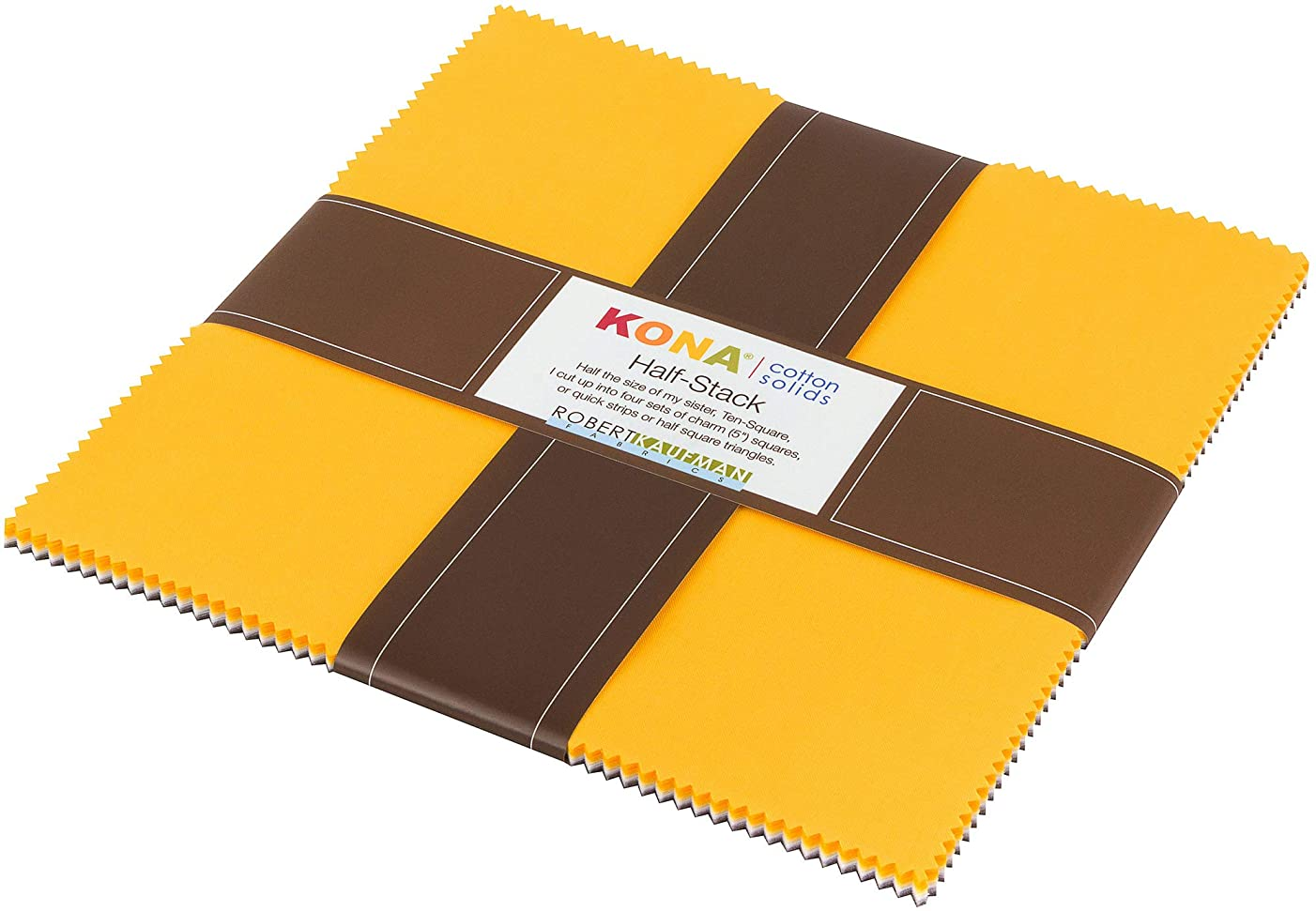 Kona Cotton Solids Sunny Side Up Half Stack 24 10-inch Squares Layer Cake Robert Kaufman HS-108-24