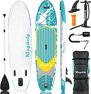 Inflatable Stand Up Paddle Board (6 inches Thick), SUP Paddle Board with Durable Backpack for beginners, Wide Stance, Remo...