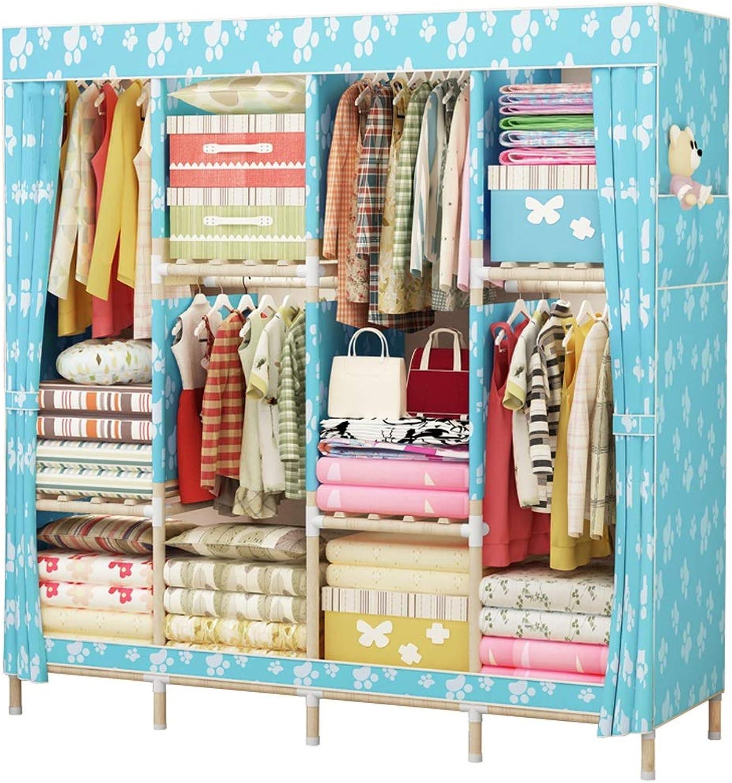 Jiu Si- Cloth Wardrobe Storage Wardrobe Simple Cloth Wardrobe Oxford Cloth Large Dustproof Combination Cloth Wardrobe (color   D)
