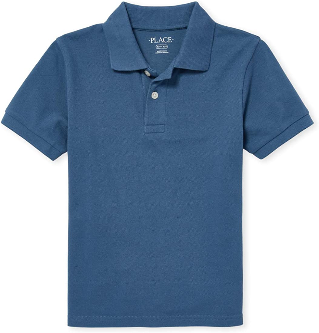 The Children's Place Boys' Big Solid Short Sleeve Polo Shirt