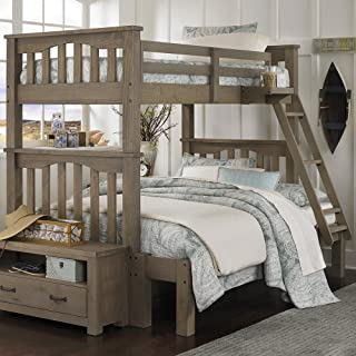 NE Kids Highlands Harper Twin Over Full Bunk Bed in Driftwood