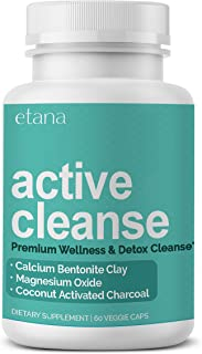 Etana — Active Cleanse — Detox Supplement — with Calcium Bentonite Clay, Activated Charcoal, & Organic Herbs — Natural & S...