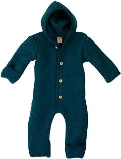 Angelo Baby Overall con cappuccio in pile di lana