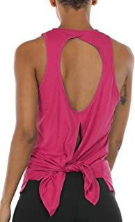 icyzone Open Back Workout Tank Top Shirts - Activewear Exercise Athletic Yoga Tops for Women