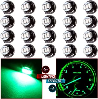 cciyu 20 Pack T4/T4.2 Green Neo Wedge 3LED A/C Climate Control Light Bulbs Replacement fit for 1998-2001 Acura Integra 2004-2011 Chevrolet Colorado
