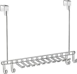 iDesign Classico Over the Door Closet Organizer Rack for Ties, Belts - Chrome