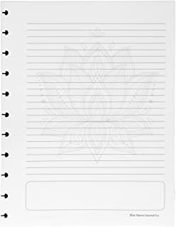 Discbound Filler Paper; Lotus Flower; Letter-Size, fits 11-Disc Notebook, fits Tul, Arc, Circa, and More