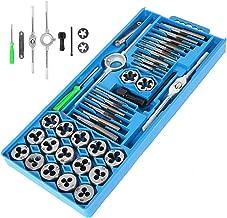 Machos de mano 12 piezas M6-M12 Pr/ácticos grifos de rosca para tuercas de tornillo de alta resistencia Muere con llave Kit de herramientas de mano con llave para roscado de metal en metal blando