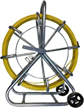 1000FT CableDuct Coated Fiberglass Continuous Duct Rodder with Cage and Wheel Stand